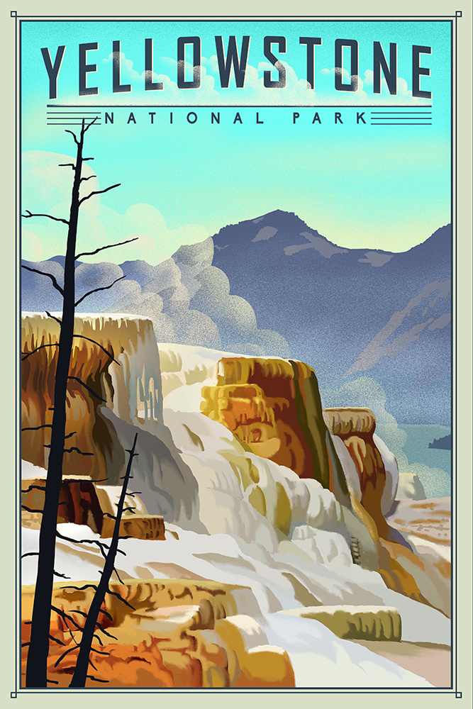 Lithographic National Park Series